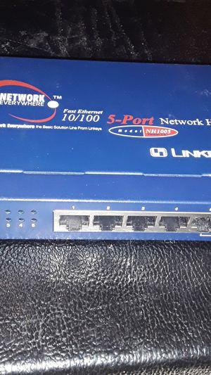 linksys network hub for Sale in San Antonio, TX