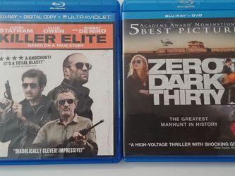 Killer Elite + Zero Dark Thirty Blu-ray Disc for Sale in Colton,  CA