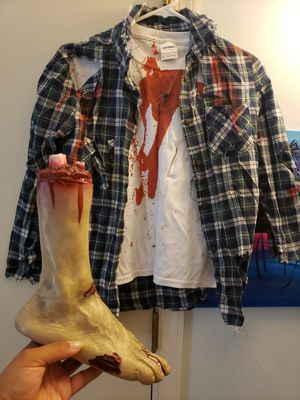 Homemade Child zombie or werewolf costume for Sale in Virginia Beach, VA
