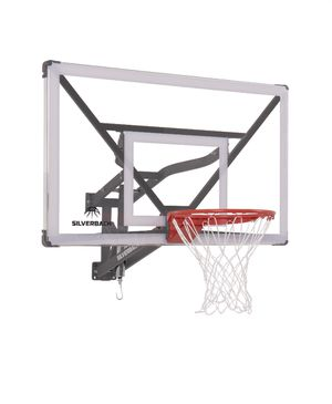 "54"" Silverback Wall Mounted Adjustable Basketball Hoop for Sale in Rochester, NY"