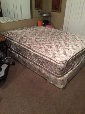 Full size pillow top mattress with Full size box springs. Good firm mattress, Clean Smoke Free home for Sale in Eastman, GA