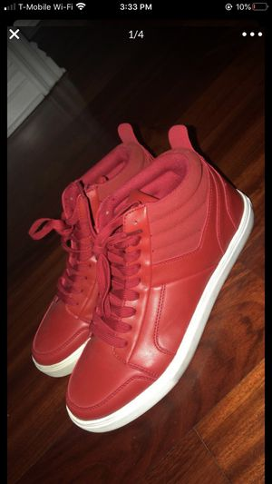 Red Guess Men Shoes Size 10.5 Guess Brand Men Shoes Red/White Color 10.5 Size for Sale in Burbank, CA