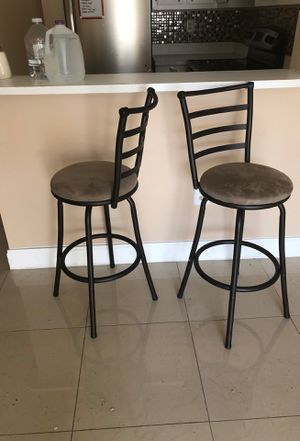 Two rotating bar stools - used good condition for Sale in Miami, FL