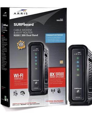 ARRIS/Motorola SBG6580 SURFboard DOCSIS 3.0 Cable Modem and WiFi-N Router for Sale in Rochelle Park, NJ