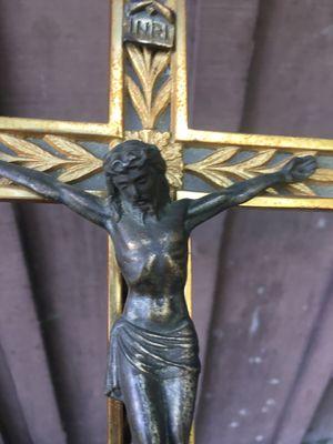 Vintage Metal Christ on Crucifix for Sale in Hayward, CA