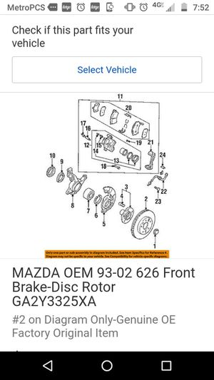Mazda Brand new rotors and disk brake pads for Sale in Yelm, WA