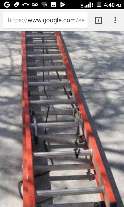 24' fiberglass extension ladder by Werner
