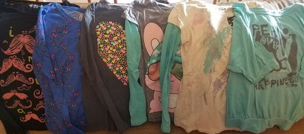Girls Size 14, Size 16 Long Sleeve Shirts and Sweaters