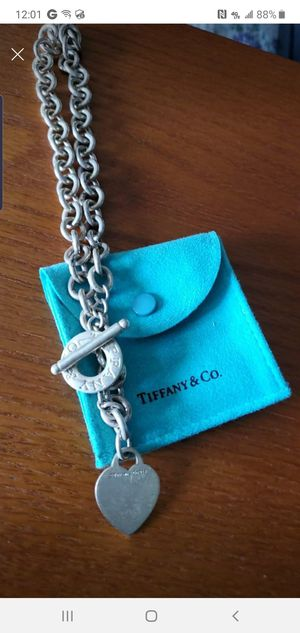 Tiffany's sterling silver heart chain necklace for Sale in Edison, NJ