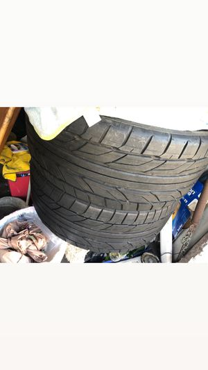 4 rims 2 tires Nitto nt555 G2 black (19x8) other 20x9 for Sale in Richmond, CA