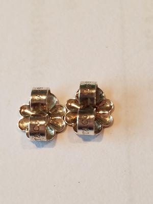 Tiffany silver flower earring backs for Sale in Torrance, CA
