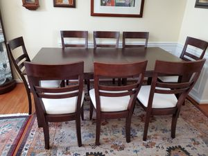Dining room set - solid wood table and 8 chairs for Sale in Annandale, VA