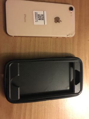 Apple iPhone 8 iCloud locked GSM phone case comes free with phone for Sale in Quartz Hill, CA