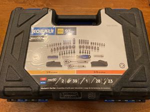 Kobalt 93 piece socket set with Allen wrenches and socket bits brand new for Sale in Manassas, VA