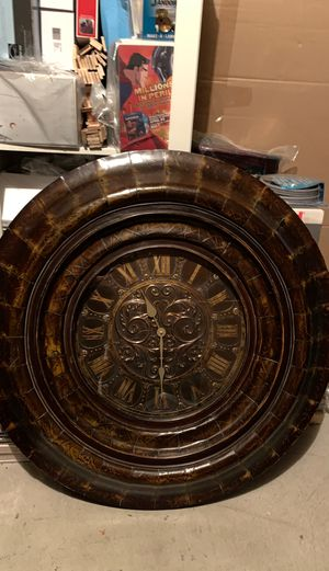 Vintage VERY LARGE Wooden Wall Clock for Sale in Vancouver, WA