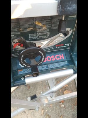 Bosch 4000 table saw, new blade, folding stand for Sale in Washington, DC