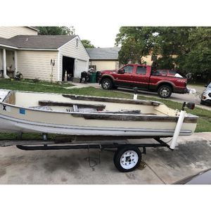 "14"" Aluminum Boat With Trailer for Sale in San Antonio, TX"