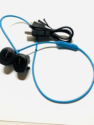 Genuine USED Bose SoundSport Wireless Neckband Wireless Headphones -Aqua $50 firm w/charging cable for Sale in Irvine, CA