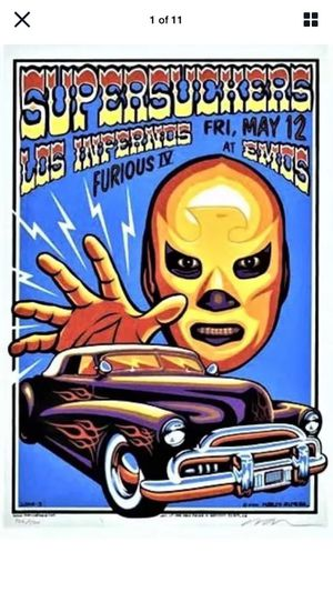 Marco Almera Signed LUCHA Supersuckers Los Infernos Furious IV Emos Poster MINT for Sale in Escondido, CA