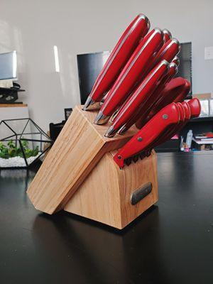 Farberware 15 Piece Knife Set Red for Sale in Nashville, TN