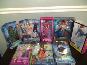 All New in the Box - Lot of 7 Barbie and Disney Dolls for Sale in Nashville, TN