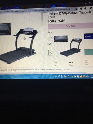Treadmill pro-form 727I with heart rate control for Sale in Saint Paul, MN