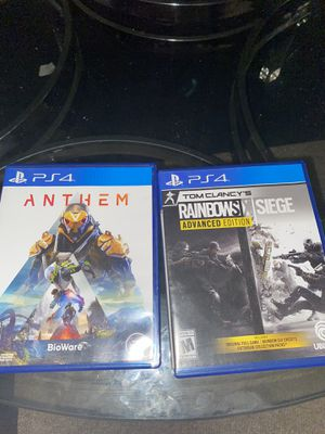 ANTHEM AND RAINBOWSIX SIEGE PS4 GAMES for Sale in Columbus, OH