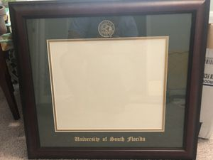 USF diploma picture frame for Sale in Land O' Lakes, FL