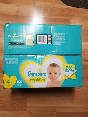 Pampers Swaddlers 150 Diapers Size 4 for Sale in Santa Clara, CA