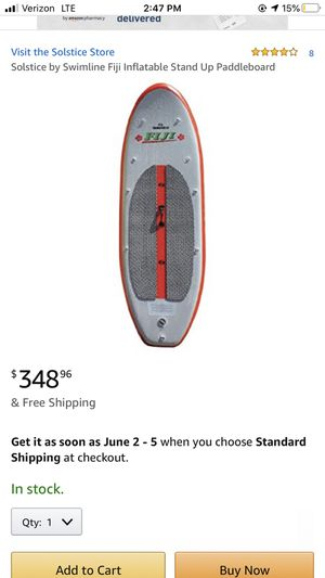 Solstice Fiji inflatable paddle board for Sale in Sterling, VA