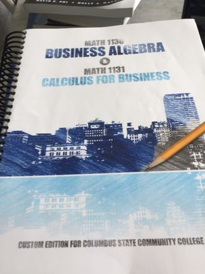 Business Algebra & Calculus for Business for Sale in Delaware, OH