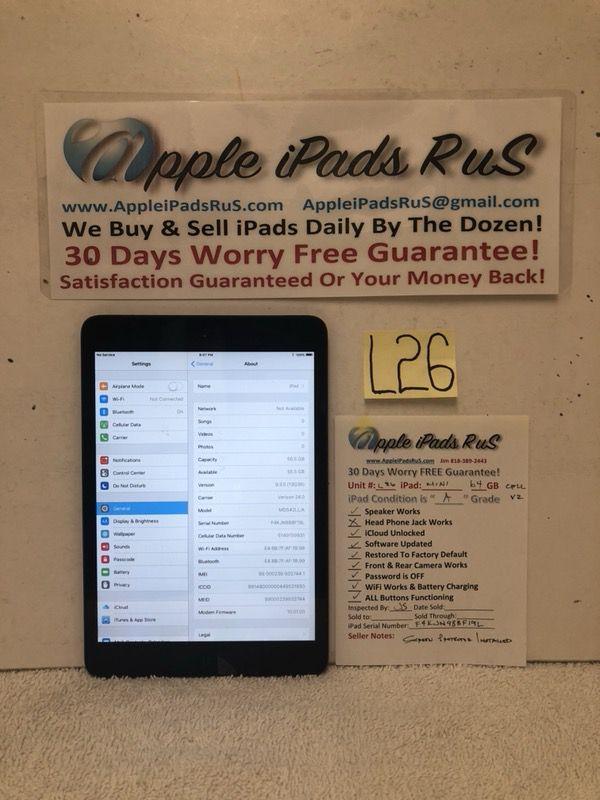L26 - iPad mini 1 64GB Cell-VZ