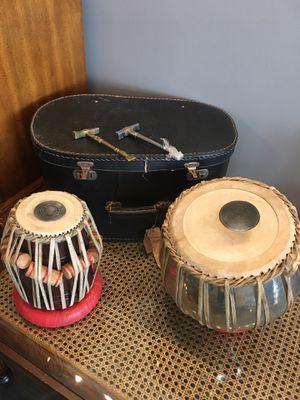 Vintage Tabla Drum Set with case for Sale in Tampa, FL