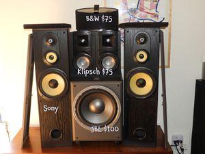 Speakerholic Selling Good Stuff Cheap in Poinciana - B&W, Klipsch,JBL for Sale in Kissimmee, FL