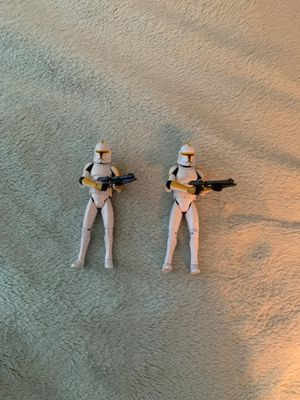 Two clone trooper action figures for Sale in Seminole, FL