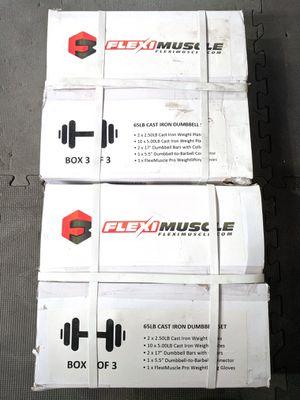 130lb Adjustable Dumbbells Set - NEW! for Sale in Tacoma, WA