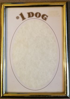 #1 Dog picture frame put your picture for Sale in Three Rivers, MI