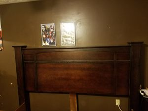 King sized bed frame with headboard and two piece box spring for Sale in McMechen, WV