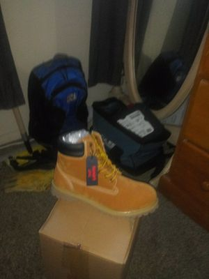 Levi work boots size 10 just want what I paid $50 not counting my shipping fee my lost your gain for Sale in Hemet, CA