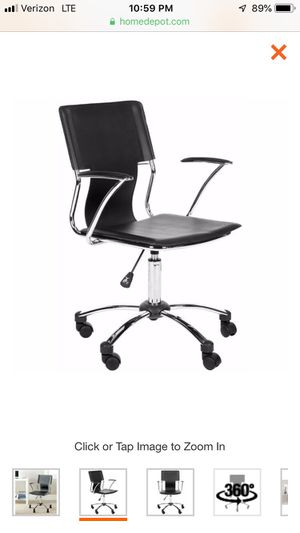 Kyler black leather contemporary office chair for Sale in Cleveland, OH