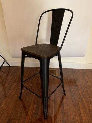 Wood seat metal barstool for Sale in Saint Joseph, MO