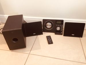 Team cd and radio with woofer and remote control MUST SELL for Sale in Miami, FL