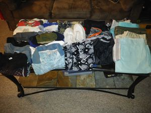 Mens clothes...15shirts size med/lg, 10 shorts size 34/lg, 2 joggers size med(1 pair ripped at knee), polo sneakers , 1 pair pajama pants for Sale in Port St. Lucie, FL