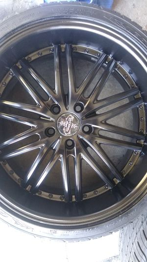 20Inch Rims All black 5 lugs *Only 2 rims for Sale in Las Vegas, NV