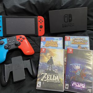 Nintendo Switch With 4 Games Perfect Condition for Sale in Miami, FL