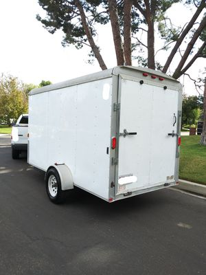 2017 ENCLOSED TRAILER CARGO WITH REAR RAMP AND SIDE DOOR HEAVY DUTY 6X12X6.5 TALL,90% LIFE TIRES,LED LIGHTS for Sale in Los Angeles, CA