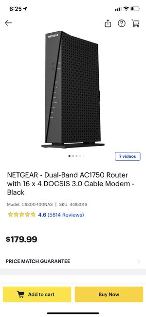 Netgear Cable Gateway (Modem & Router in one) for Sale in Lansdale, PA