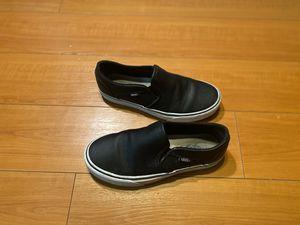 Vans slip on plain black shoes for Sale in Santa Ana, CA