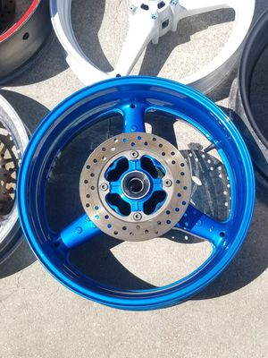 MOTORCYCLE FRONT AND REAR RIMS AND ROTORS FOR SALE HONDA YAMAHA SUZUKI KAWASAKI... for Sale in Pompano Beach, FL