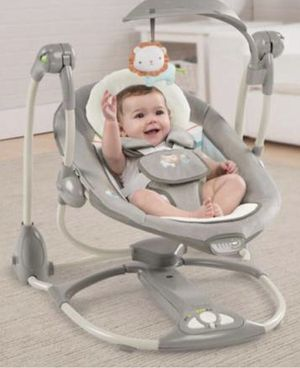 Ingenuity convertMe baby infant swing to Portable seat, with music and soothing vibrations. A swing and a seat all in 1! Hardly used in box for Sale in Huntington Beach, CA